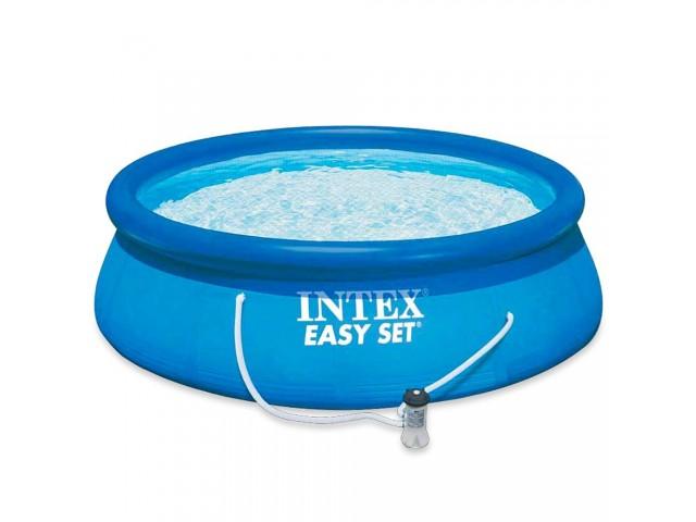 """INTEX 7528122 - Басейн с надуваем ринг """"Easy Set"""" с размери Ф305х76 cm + филтърна система"""