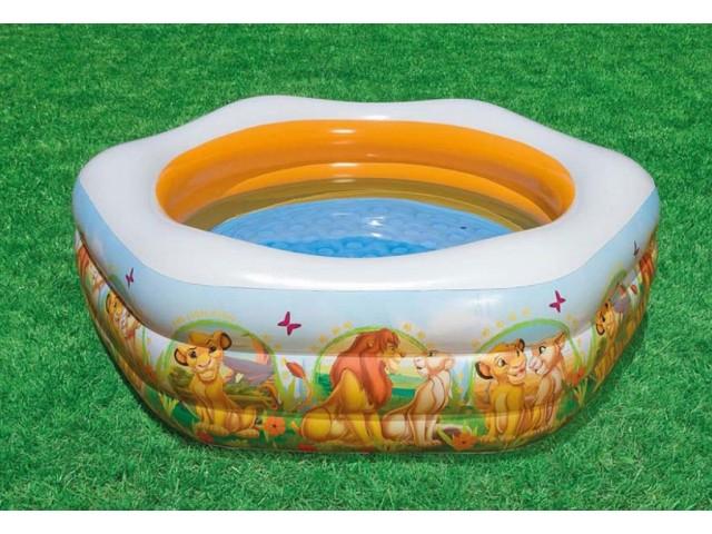 """INTEX 757497 - Шестоъгълен надуваем басейн """"Цар Лъв"""" с размери 191x178x61 cm"""