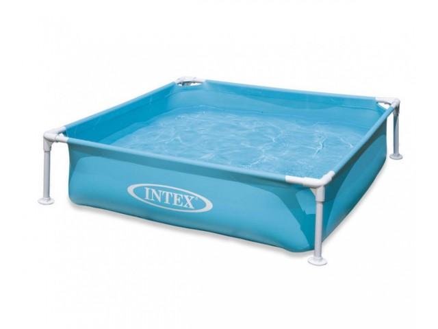 INTEX 757173 – Мини сглобяем басейн син с размери 122x122x30 cm