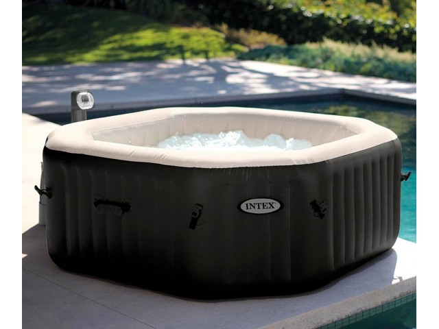 """INTEX 28456 - Надуваемo джакузи с водни и въздушни струи """"PureSpa Delux"""" с размери 218х168х71 cm"""