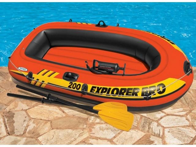 "INTEX 758357 - Надуваема ДЕТСКА ДВУМЕСТНА лодка ""EXPLORER Pro 200"" + гребла и помпа"