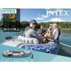 """INTEX 68324NP– Надуваема ЧЕТИРИМЕСТНА лодка """"EXCURSION 4 """" с размери 318x168x44 cm, Товароносимост: 500 кг, С алуминиеви гребла и помпа в комплекта"""