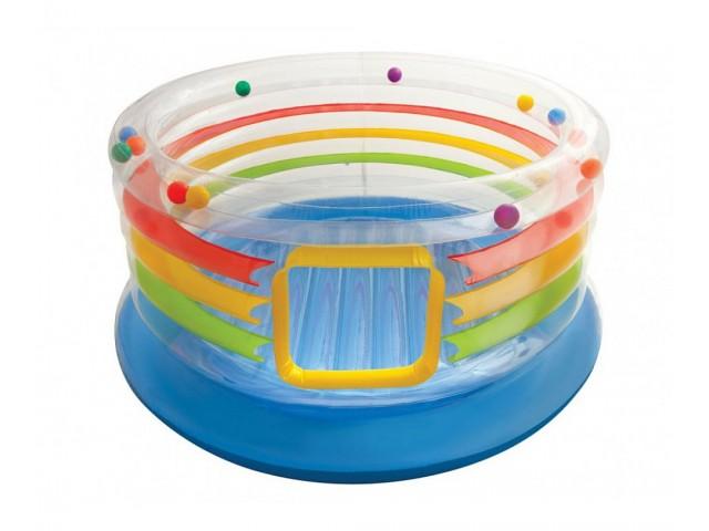 INTEX 748264 - Детски трамплин с прозрачни стени, размер 86см, за деца 3-6 г.