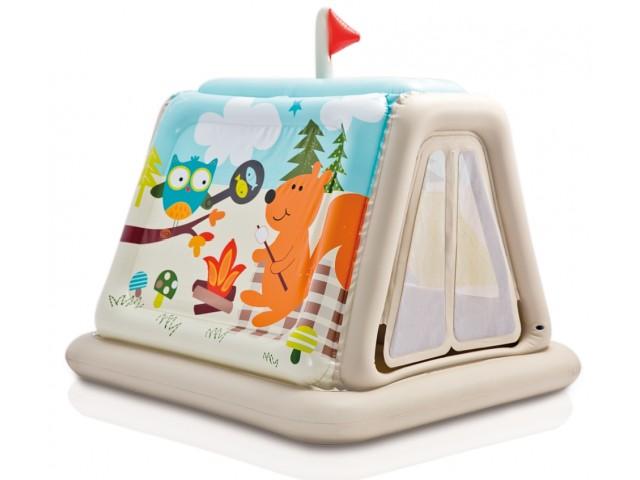 INTEX 748634 - Детска надуваема къщичка за игра с размери 127x112x116 cm