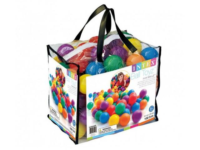 INTEX 749600 - Топки 100 бр. в чанта, размер на топките 8 cm