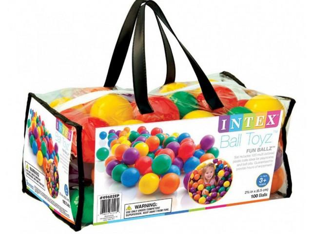 INTEX 749602 - Топки малки 100 бр. в чанта, размер на топките 6.5 cm