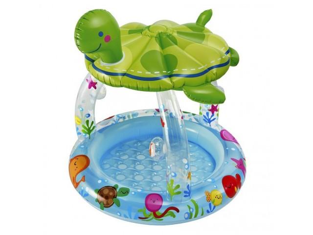 """INTEX 757119 - Детски басейн със сенник """"Морска костенурка"""" за деца от 0 до 3 г."""