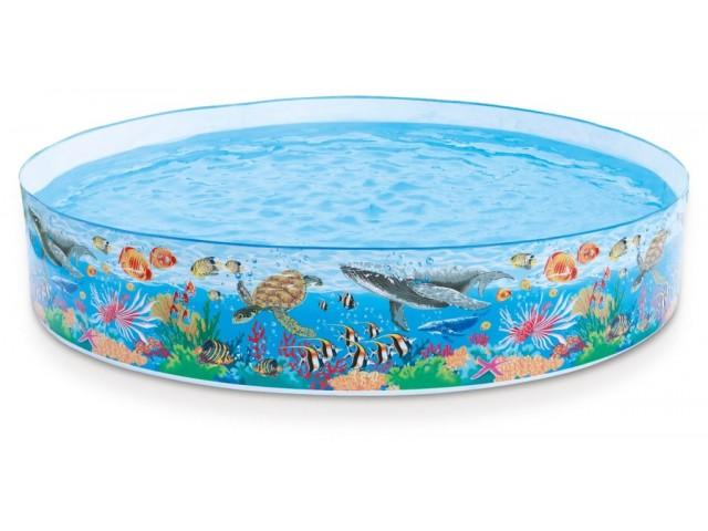 """INTEX 758472 - Басейн с твърд борд """"Корален риф"""", СРЕДЕН с размери 244х46cm, за деца над 3 г."""