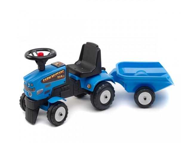 FALK – Бебешки трактор с ремарке, син (модел: 302032)