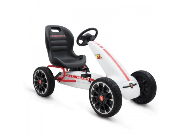 Abarth 500 Assetto corse - Картинг кола, синтетични EVA гуми, Цвят: Бял, Тегло: 12.80 кг