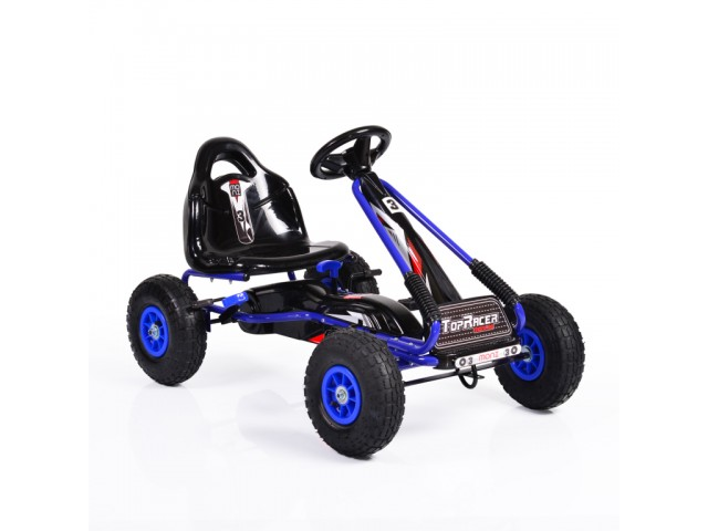 MONI Top Racer AIR - Картинг кола, надуваеми гуми, Цвят: Син, Тегло: 11 кг