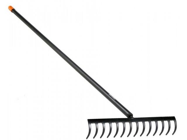 """FISKARS 1016036 - Метално гребло за почва """"SOLID"""", с АЛУМИНИЕВА дръжка, Ширина: 0.41 m, Дължина: 1.54 m, Тегло: 0.67 кг"""