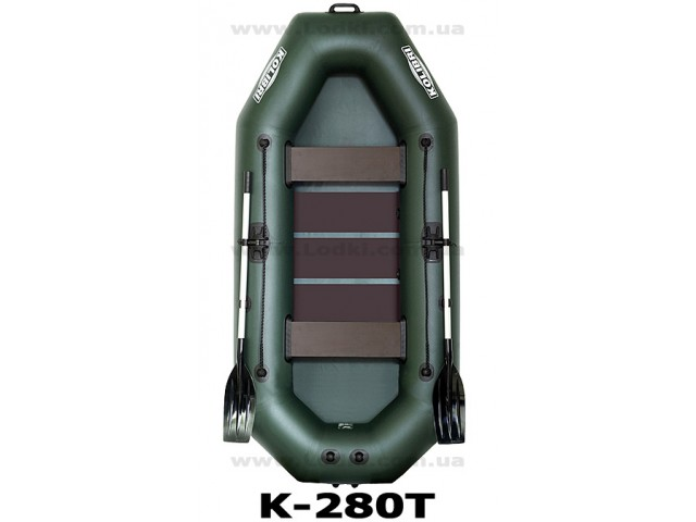 """KOLIBRI - Надуваема ТРИМЕСТНА РИБАРСКА лодка """"K-280T"""" с размери 280x130 cm + оребрено дъно, Товароносимост: 250 кг"""