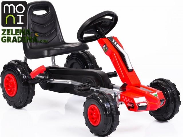 """MONI 103703 - Картинг """"BOLT F648"""", Пластмасови гуми, Цвят: Червен, Тегло: 6.5 кг"""