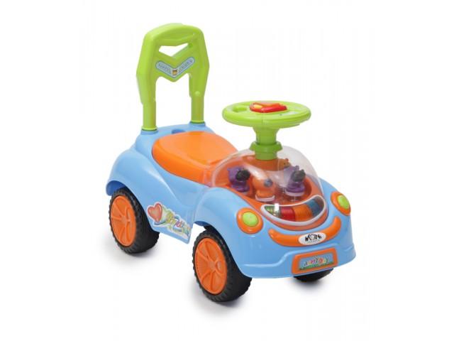 MONI HAPPY DAY - Кола за бутане, Максимално тегло: 20 кг, Цвят: син