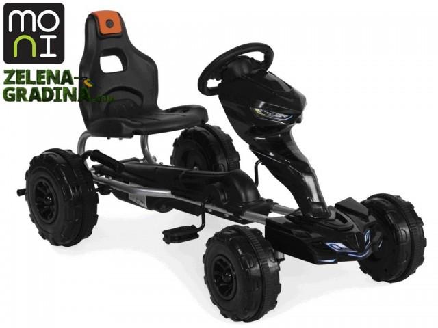 "MONI 103862 - Картинг ""RUSH 1501"", Пластмасови гуми, Цвят: Черен, Тегло: 8.2 кг"