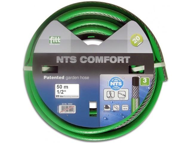"""FITT 76086.16650.59000 Градински маркуч """"NTS COMFORT""""; Размер: 1/2"""" x 50m на фирма FITT-Италия"""