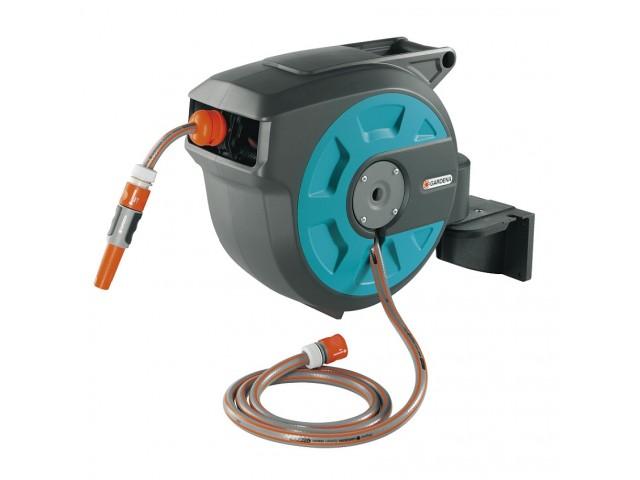"""GARDENA 08022-20 Стенна кутия за навиване на маркуч """"Comfort Automatic"""", Дължина на маркуча: 15 m"""
