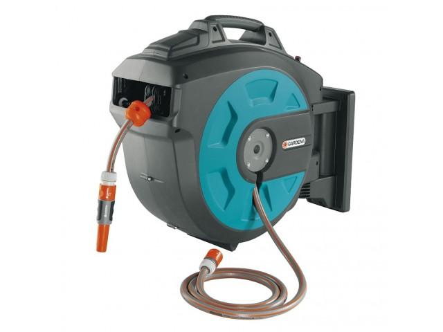 """GARDENA 08023-20 Стенна кутия за навиване на маркуч """"Comfort Automatic"""", Дължина на маркуча: 25 m"""
