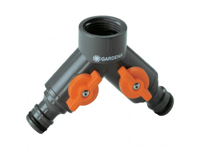 """GARDENA 00940-20 Приставка с две разклонения за кран с резба 33,3 мм (G 1"""") на GARDENA"""