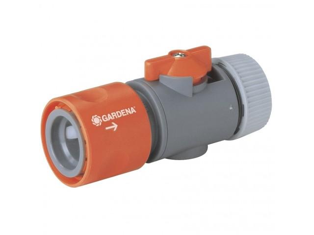 """GARDENA 02942-29 Съединител за маркуч с регулиращ клапан 13 mm (1/2"""") и 15 mm (5/8"""") на GARDENA"""