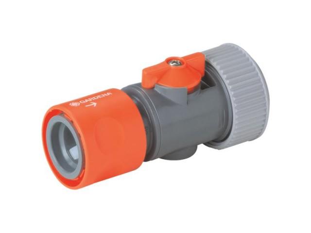 """GARDENA 02943-29 Съединител за маркуч с регулиращ клапан 19 mm (3/4"""") на GARDENA"""
