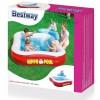 """BESTWAY 53050 - Надуваем детски квадратен басейн """"ХИПОПОТАМ"""" с размери 2.01x2.01x0.91 m"""