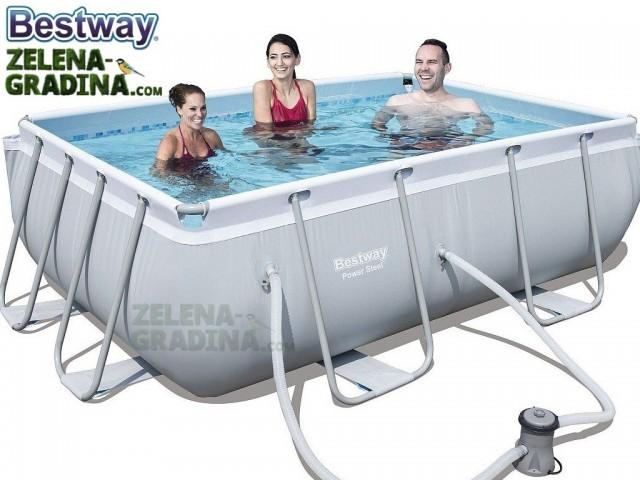 BESTWAY 56629 - Правоъгълен басейн с тръбна конструкция, Размери: 2.82 x 2.96 x дълбочина 0.84 m + филтърна система