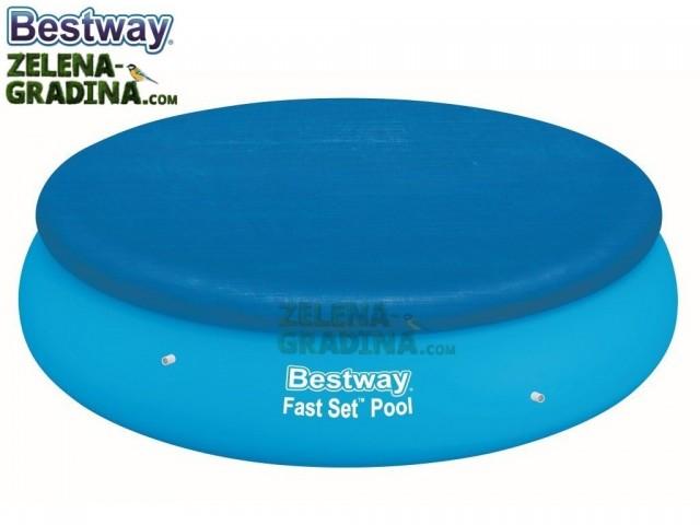 BESTWAY 58032 - Покривало за басейн с надуваем ринг с диаметър Ф 2.44 m