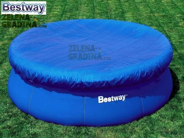 BESTWAY 58034 - Покривало за басейн с надуваем ринбг с диаметър Ф 3.66 m