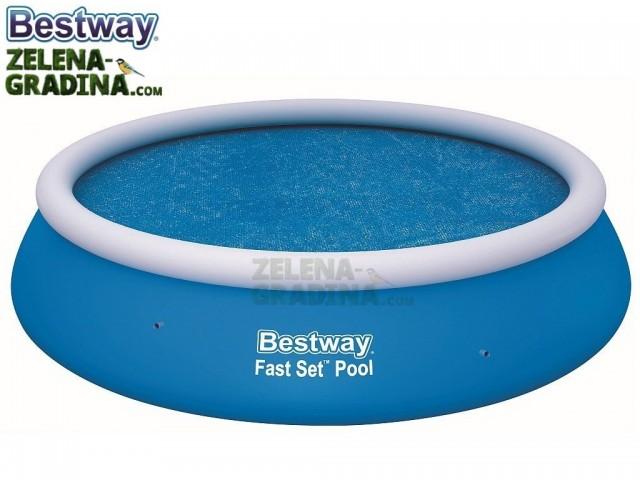 BESTWAY 58062 - Соларно покривало за басейн с диаметър 3.66 m