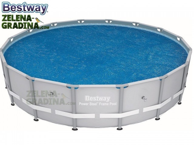 BESTWAY 58253 - Соларно покривало за басейн с диаметър Ф 4.88 m