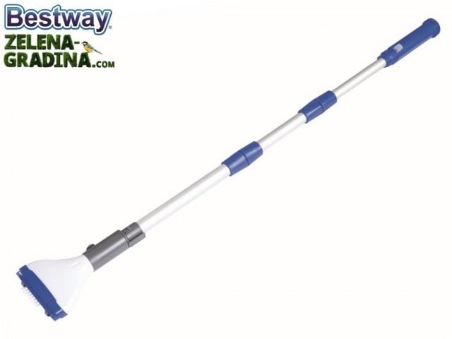 BESTWAY 58340 - Електрическа вакум четка за басейн, Дължина: 1.5м дръжка, Работи с 8 бр. АА батерии (не са вкл. в к-та)