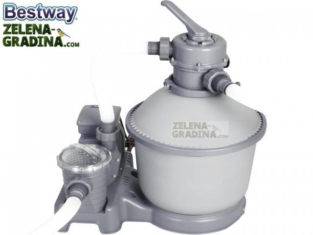 BESTWAY 58400 - Пясъчен филтър с помпа FLOWCLEAR™, Дебит: 3785 L/h, Тегло: 13 кг