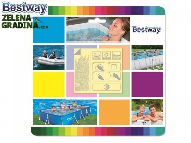 BESTWAY 62091 - Ремонтен комплект от 10 бр. водоустойчиви лепенки за залепване на басейни, джакузита или надуваеми мебели и играчки