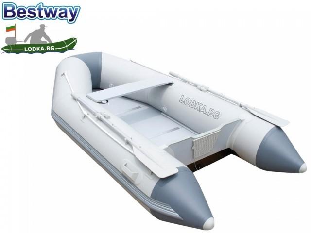 """BESTWAY 65047 - Надуваема КИЛОВА РИБАРСКА лодка """"HYDRO-FORCE CASPIAN PRO"""" с алуминиево дъно с товароносимост за ТРИМА възрастни и ЕДНО дете, Размери 280x152x42 cm, Товароносимост: 480 кг"""