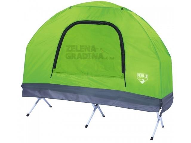 BESTWAY 68064 - Походно легло 5 в 1, надуваем матрак, калъф за матрака, спален чувал, палатка, помпа Fold 'N Rest Camping Bed