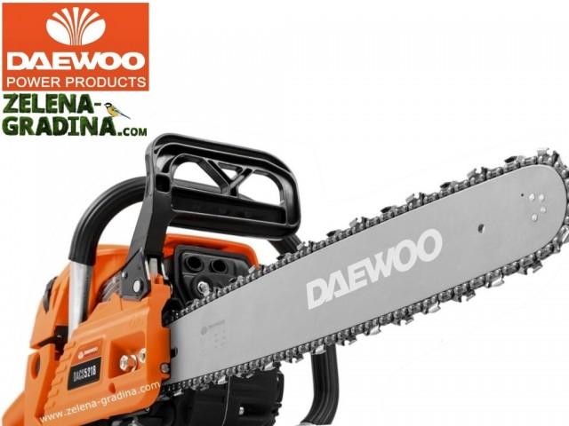 DAEWOO DCS5218 - Бензинова резачка (верижен трион), Кубатура: 52 cm³, Мощност: 2.9 к.с. (2.1 kW), Дължина на шината: 45 cm