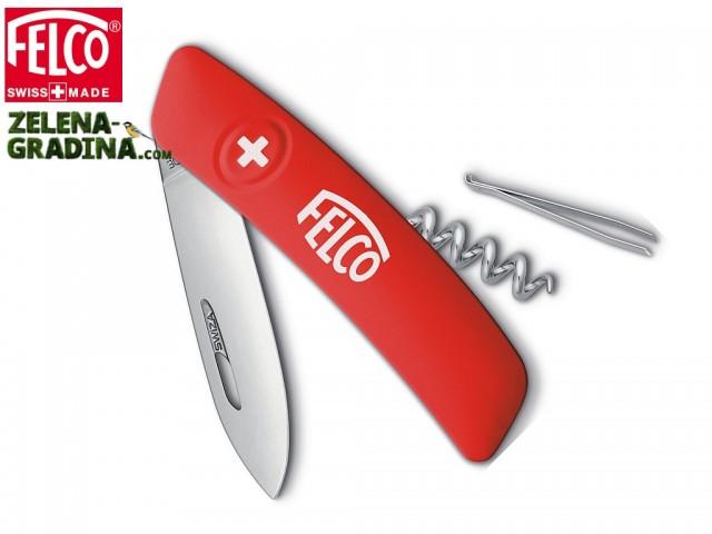 FELCO 501 - Мултифункционално джобно ножче с 4 функции: ножче • пинсета • заключване на острието • тирбушон, Дължина: 95 mm, Тегло: 60 гр.