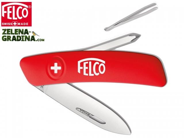 FELCO 502 - Мултифункционално джобно ножче с 4 функции: ножче • пинсета • заключване на острието • кръстата отверка No.1 , Дължина: 95 mm, Тегло: 65 гр.