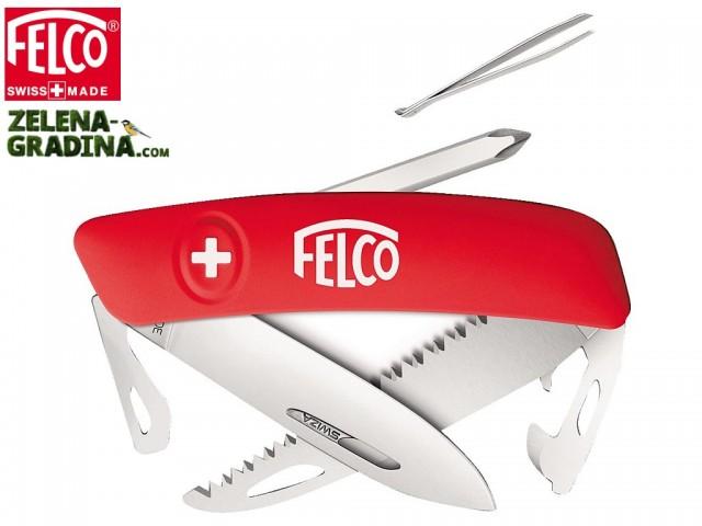 FELCO 506 - Мултифункционално джобно ножче с 10 функции: ножче • пинсета • заключване на острието • тирбушон • 2х2 комбинирани инструмента • мини-трион • кръстата отверка No.1 • мини-трион, Дължина: 95 mm, Тегло: 110 гр.