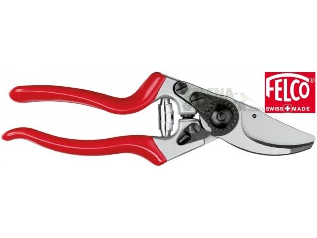 """FELCO 9 - Професиолна лозарска ножица """"FELCO 9"""", ергономичен модел за работа с ЛЯВА ръка, с остриета от закалена стомана; гумени абсорбиращи тампони на дръжките; подменящи се части, Рязане: до Ф25 mm, Дължина: 21 cm, Тегло: 246 g"""