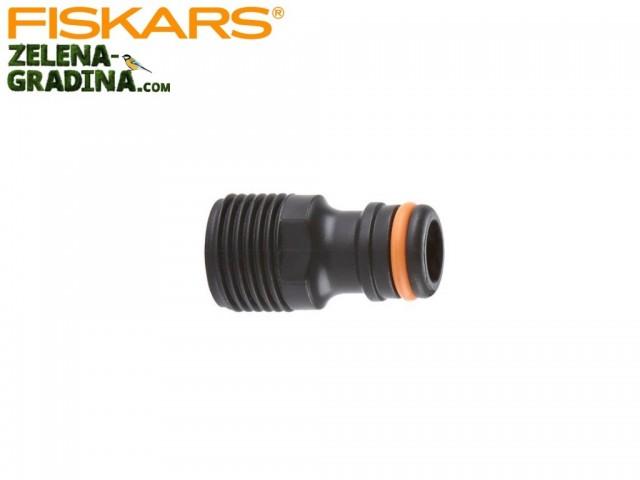 """FISKARS 1020439 - Накрайник за кран външна резба, Размер: 1/2"""" (13 mm), Мъжки накрайник"""