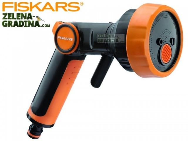 FISKARS 1020446 - Пистолет за поливане с 4 функции + плавно регулиране на струята