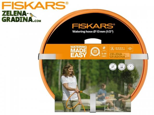 """FISKARS 1023647 - Висококачествен 3-слоен градински маркуч 1/2"""", Дължина: 20m"""