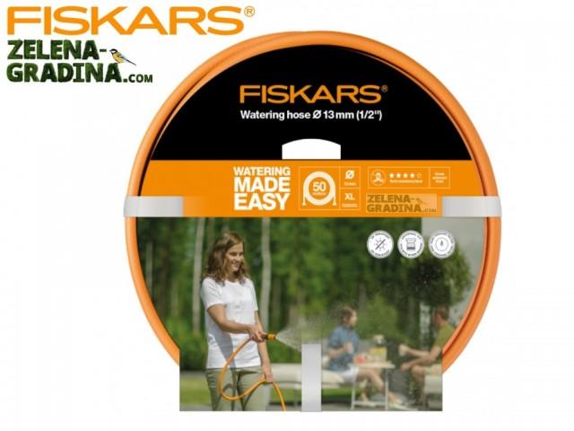 """FISKARS 1023650 - Висококачествен 3-слоен градински маркуч 1/2"""", Дължина: 50 m"""