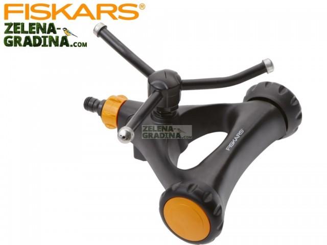 FISKARS 1023657 - Въртяща се пръскачка за градина на колела