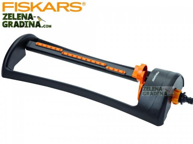 FISKARS 1023661- Метална осцилаторна разпръсквачка за градина, 20 водни дюзи за разпръскване на вод