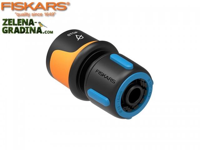 """FISKARS 1027079 - Конектор за маркуч, бърза връзка, 1/2 - 5/8"""", Функция за спиране на водата """"Aqua Stop"""""""