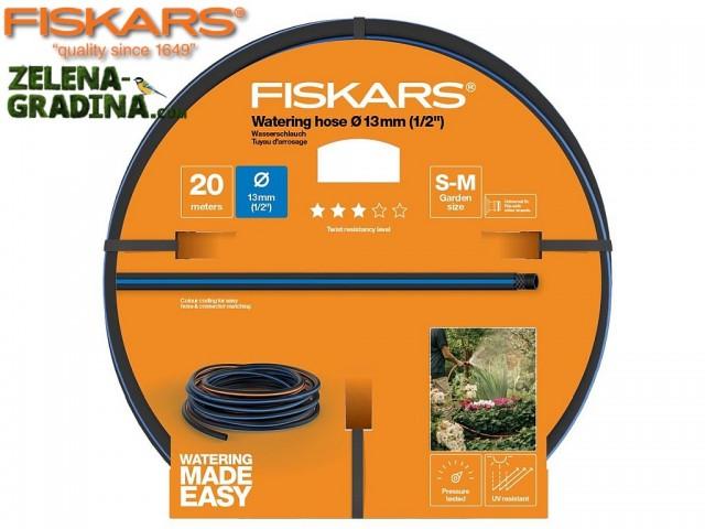 """FISKARS 1027102 - Висококачествен градински маркуч 1/2"""", Дължина: 20m, Ниво на съпротива: 3"""